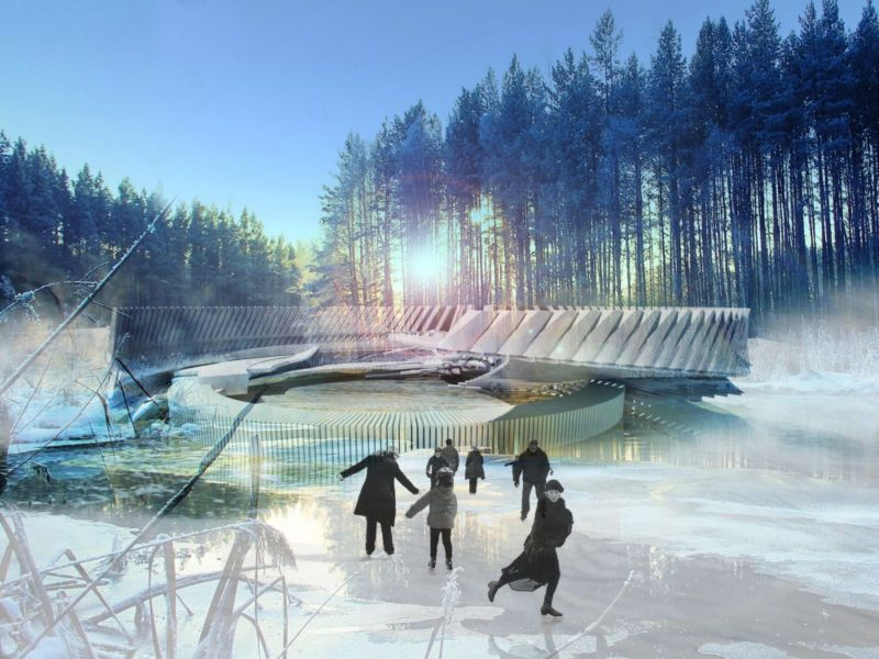 Photovoltaic Ice Skating Rink
