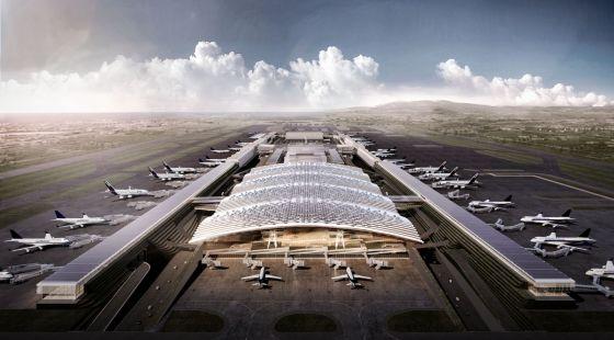 Terminal three at Taiwan Taoyuan International Airport