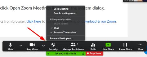 security toolbar