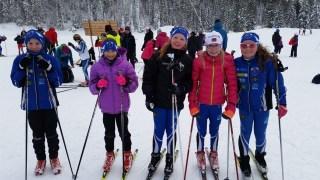 Fin gjeng i klassen gutter og jenter 11år. Mats, Ine Sofie, Kine, Andrine og Guro