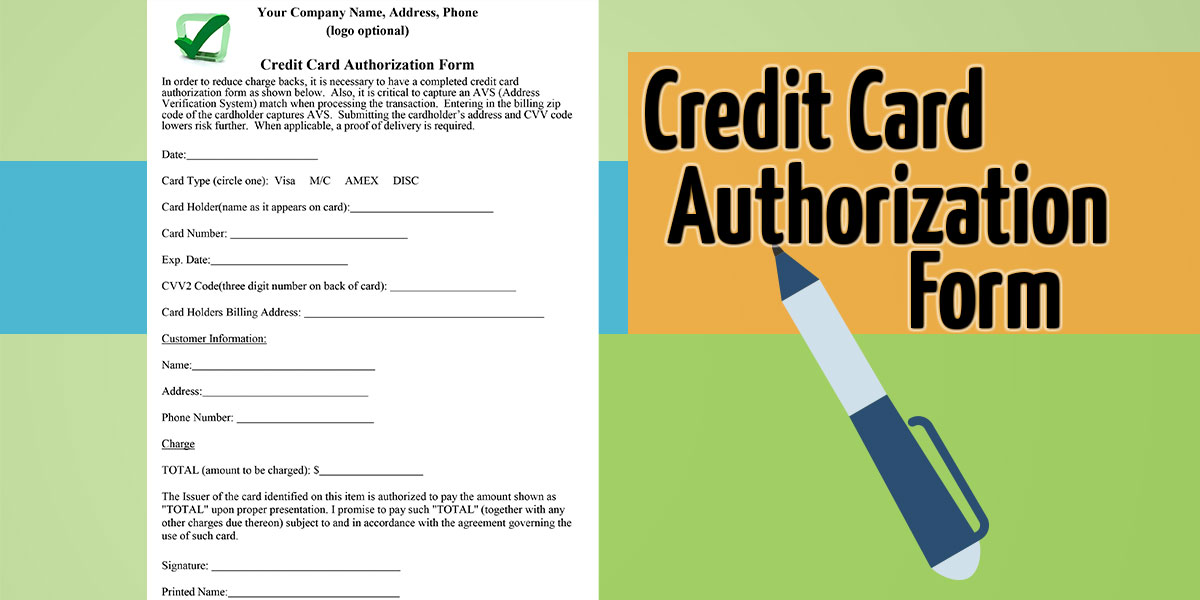 deal review template - automatic credit card authorization form template card