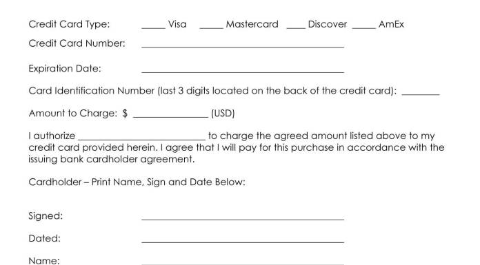 10+ Credit Card Authorization Form - Free Download!!