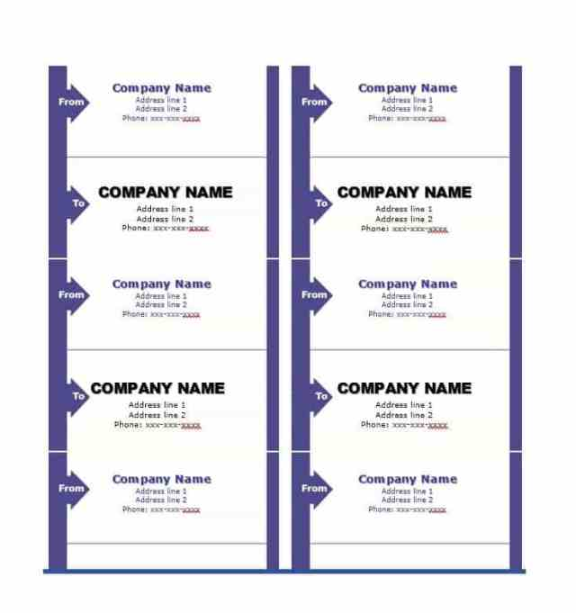 10+ Free Shipping Label Template