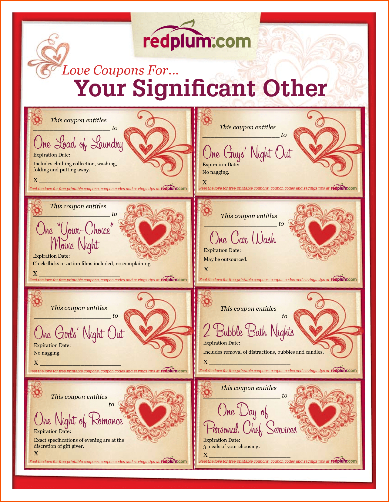 love coupon template microsoft word - free download