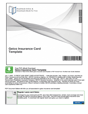 Geico Insurance Card Template - FREE DOWNLOAD - Aashe