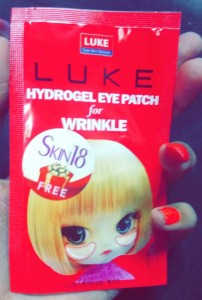 Luke Hydrogel Eye Patch for Wrinkles (Red)
