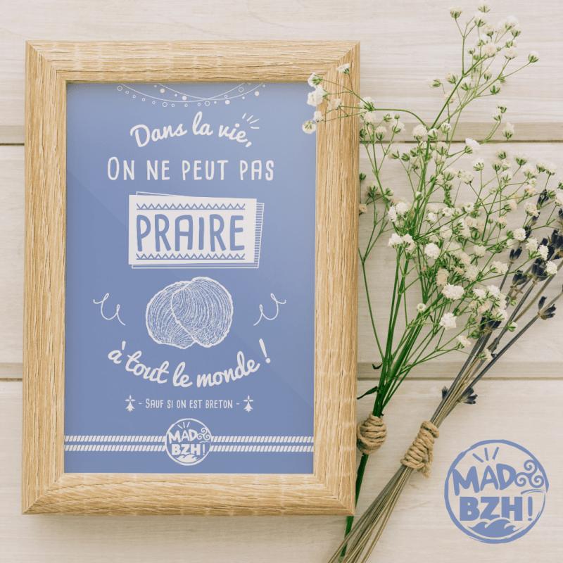 carte postale decorative mad bzh praire breton bzh morbihan bretagne breizh