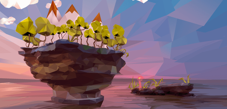 Paysage en Low-Poly