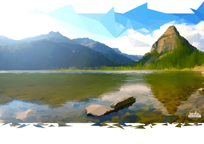 paysage en low-poly avec Photoshp