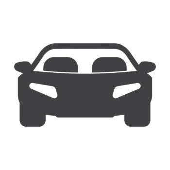 car black simple icon on white background for web design