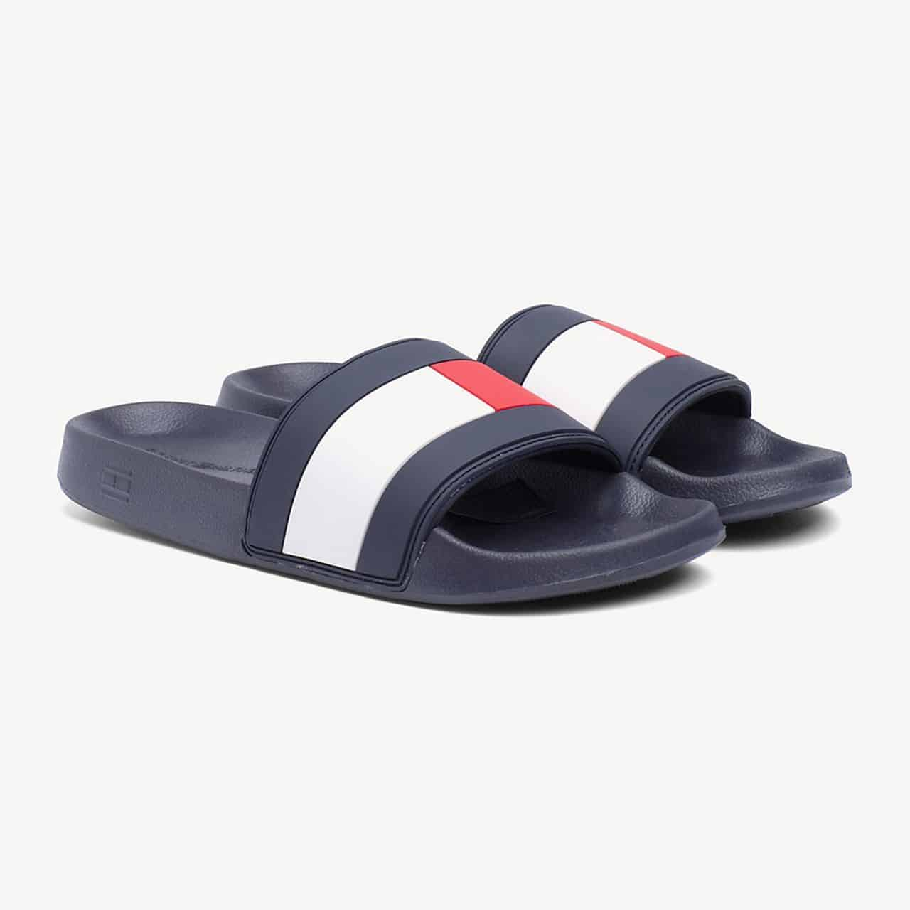SLAPI ORIGINALI TOMMY HILFIGER ESSENTIAL FLAG POOL - FM0FM02327 020
