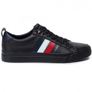 ADIDASI ORIGINALI TOMMY HILFIGER FLAG DETAIL LEATHER - FM0FM02576 BDS