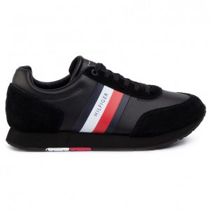 ADIDASI ORIGINALI TOMMY HILFIGER CORPORATE LEATHER FLAG - FM0FM02602 BDS