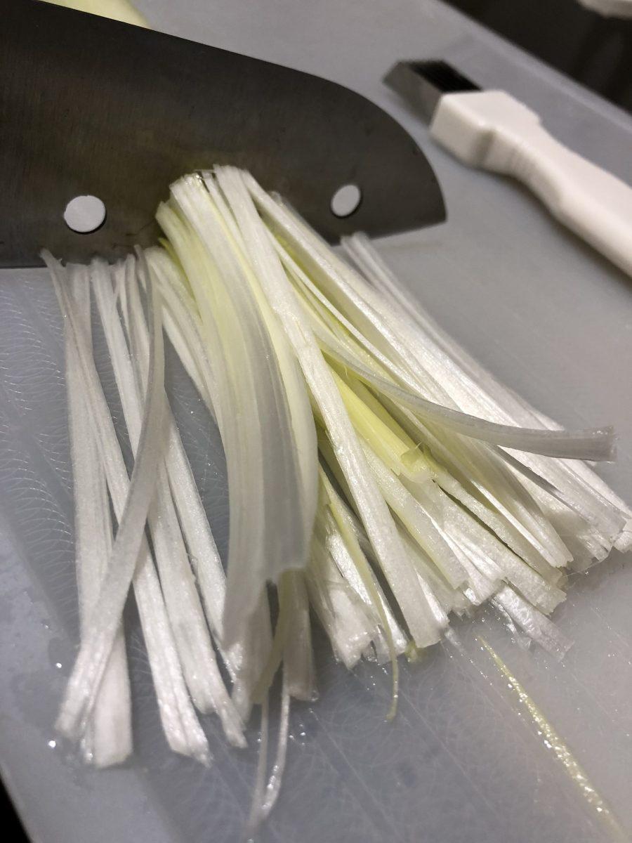 しゃぶ葉の香味野菜の切り方を研究してみたよ。
