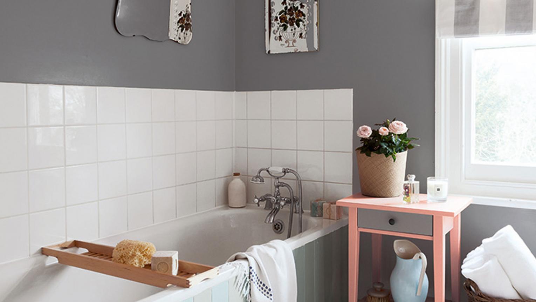 gris pour une deco salle de bains zen