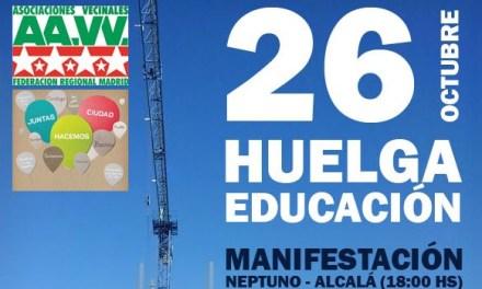 26-O: huelga en educación por la retirada de las reválidas y la LOMCE