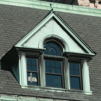 Lowell City Hall Window Close-up