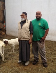 Imran and Riaz Uddin, father and son, who run Al Madani Butchery