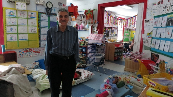Howard Milbert, the director of the Ossining Children's Center, in a classroom at the OCC.