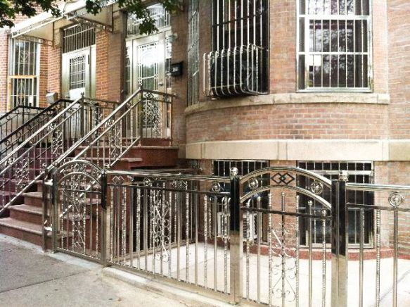 A stainless steel-clad home on 51st Street, renovated by Tony's Iron Work