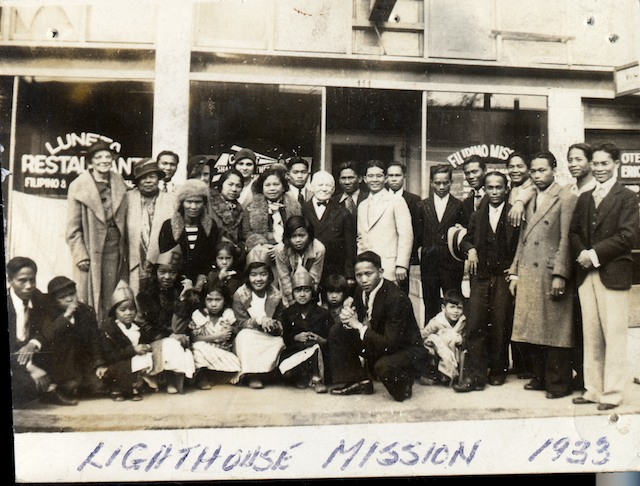 Lighthouse Mission on Lafayette 1933. Courtesy Filipino American National Historical Society