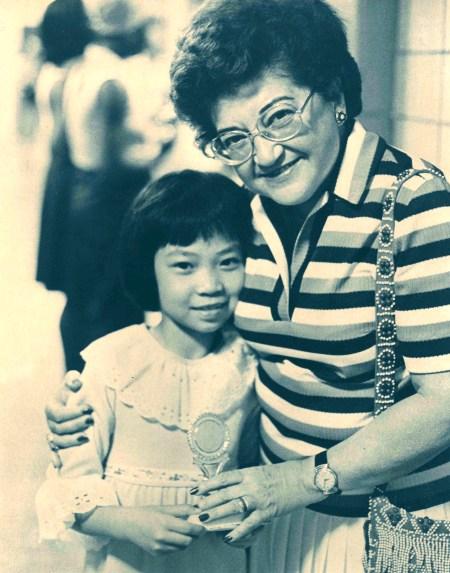 Jean with school principal