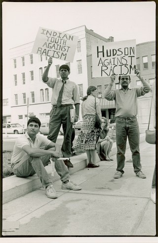"""Indian Youth Against Racism, a group from Columbia University, documented violence against Indians in New Jersey in the 1980s. The group also helped pass a bill in the New Jersey legislature raising mandatory penalties for """"bias"""" crimes. Photo by Corky Lee"""