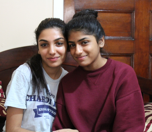 Anmol and Avneet, both high school students, have been drinking cha since they were eight years old. Photo by Sonny Singh