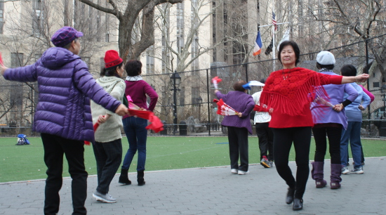 The dancing sessions allow the women to spend time with their friends.