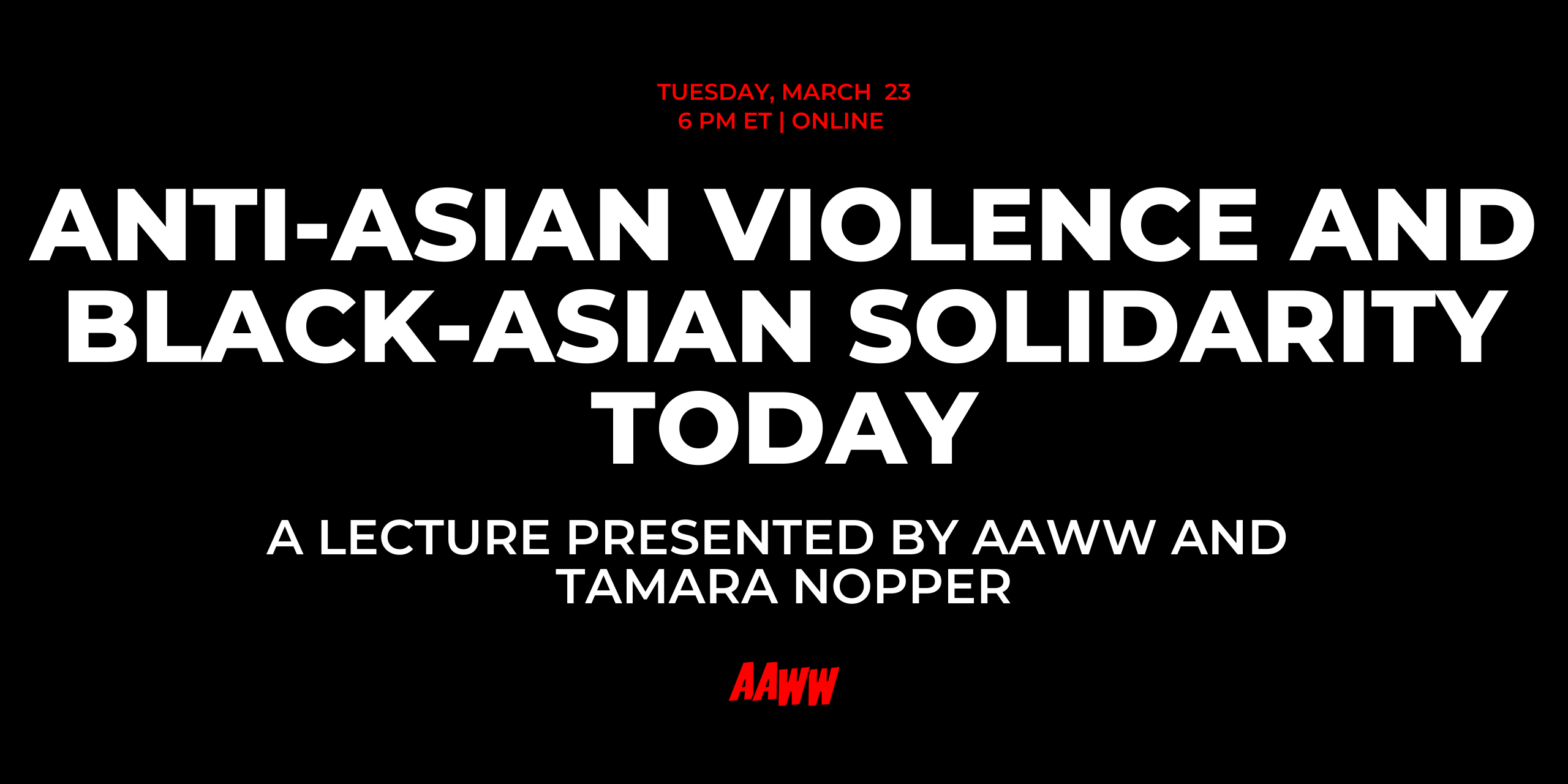 Anti-Asian Violence and Black-Asian Solidarity Today