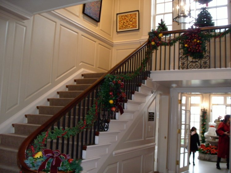Strathmore House staircase and foyer