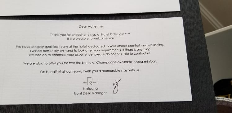Welcome Letter Hotel R de Paris May 2019 (8)