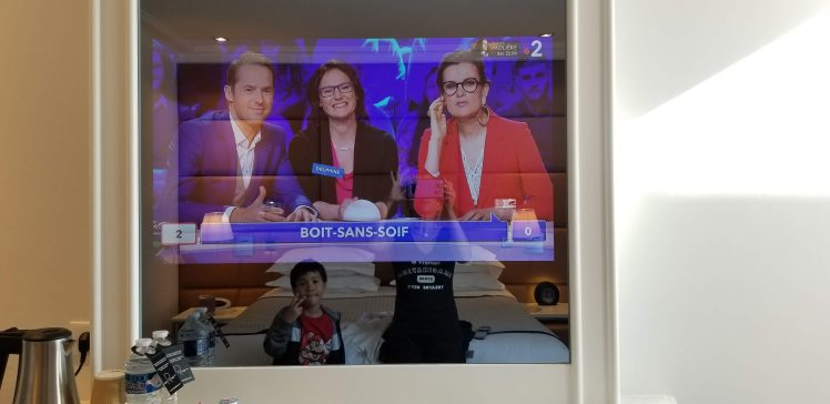 TV at Hotel R de Paris May 2019