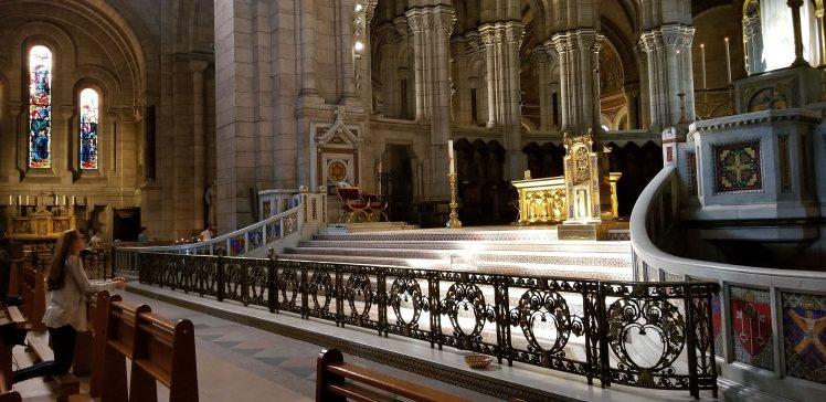 Main alter inside Sacre Coeur Paris May 2019