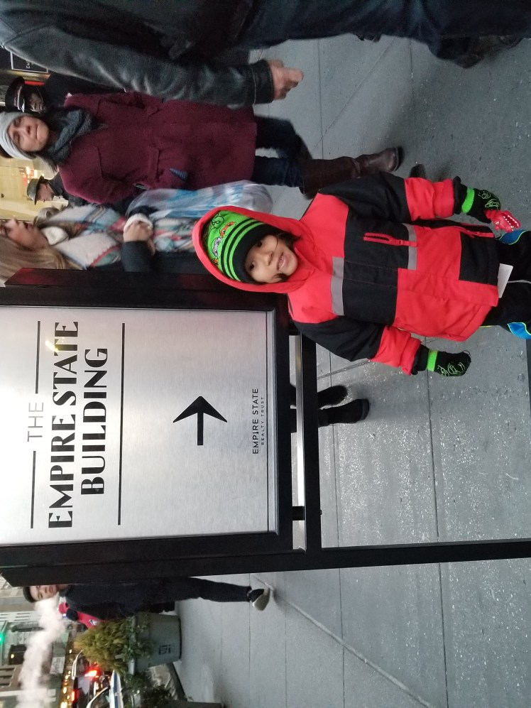 Xavier in front of Empire State Building Christmas Time 2018