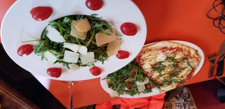 Salad and Pizza, Babalou Pizzeria May 2019