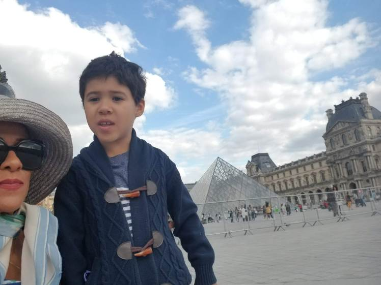 In front of Louvre with my son Paris May 2019