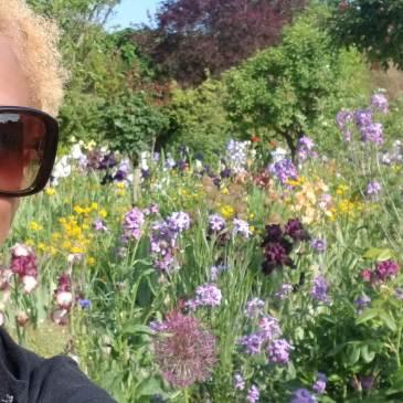 photo of me in Monet's garden Paris May 2019