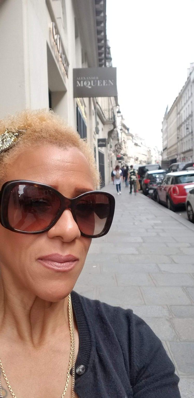 Me in front of Alexander McQueen Paris