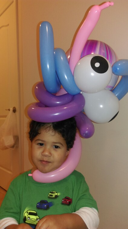 Made this balloon octopus in pre-K