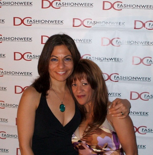 Me and Hila at DC Fashion Week 2008 Industry Networking Party at Senate Square