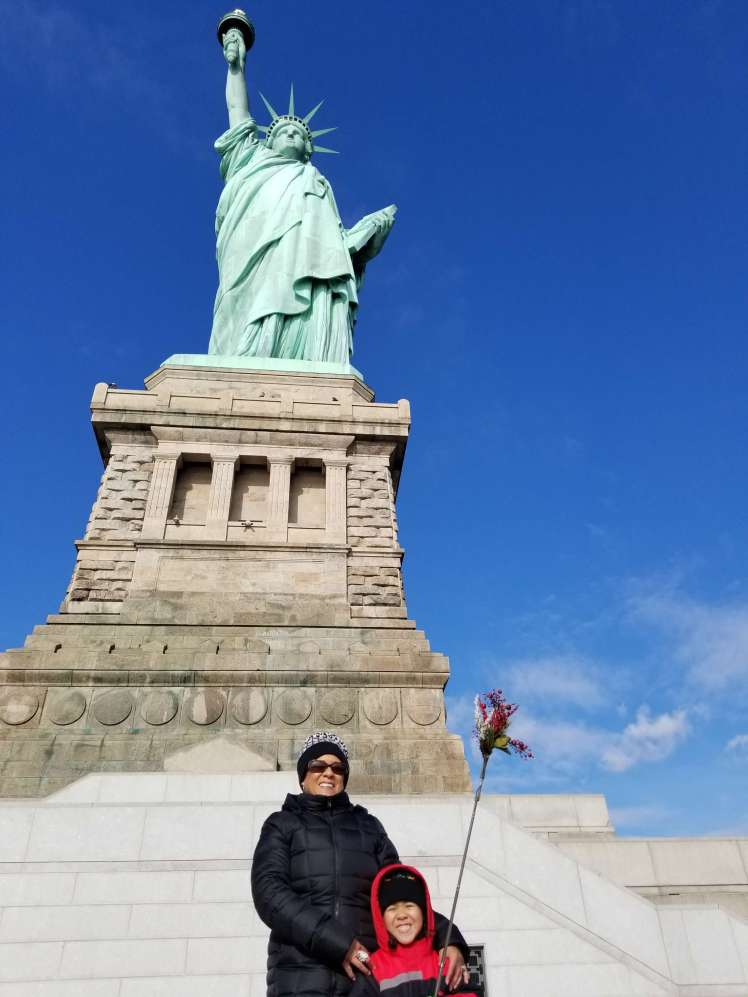 Photo-of-me-and-Xavier-Statue of Liberty Christmas 2018