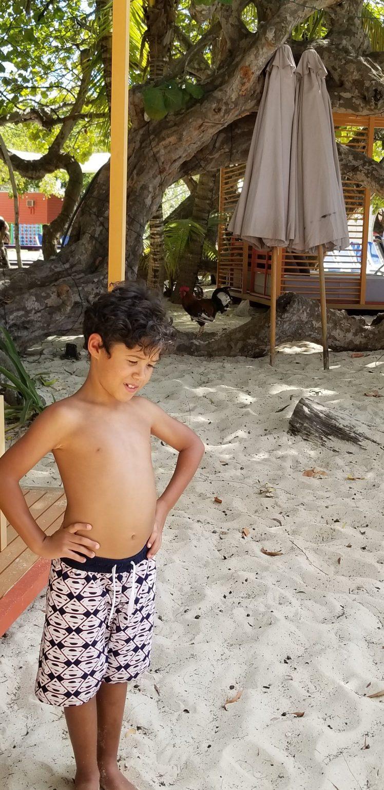 My son on the beach Grand Cayman Jan 2020