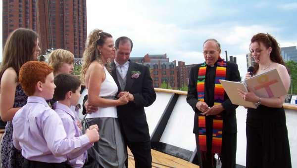 Wedding on Ship in Baltimore Harbor 2012