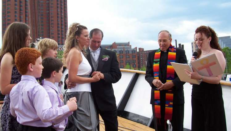 Wedding on Ship in Baltimore Harbor 2012