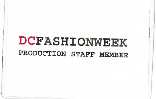 DC Fashion Week Production Staff Badge
