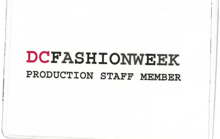 DC Fashion Week Production Staff Badge
