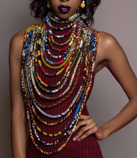 Cloth & Cord Necklace