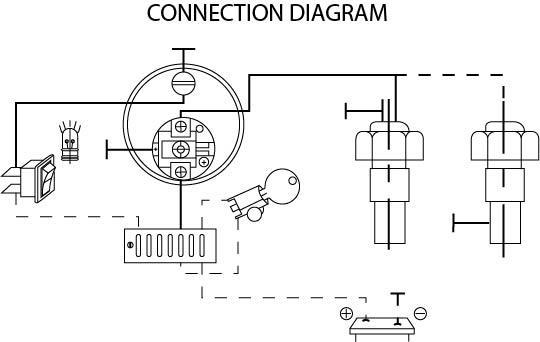 12v Water temperatuur inbouwmeter set