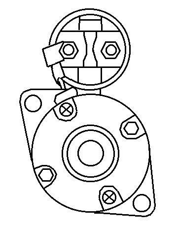 Startmotor Yanmar 3T 1995 diesel 12v